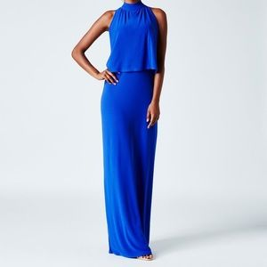 Leota Royal Blue Tie neck dress
